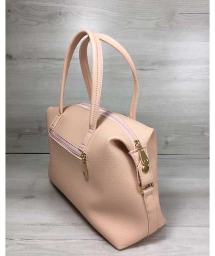 Женская сумка Ирен пудрового цвета
