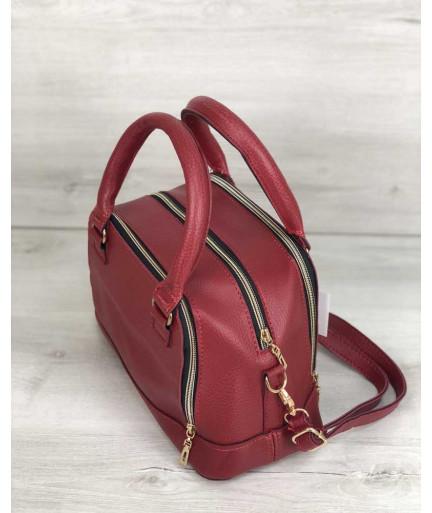 Женская сумка Лили красного цвета