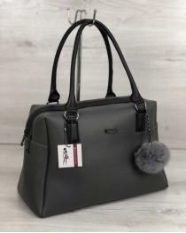 Женская сумка Агата серого цвета