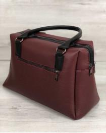 Женская сумка Агата бордового цвета