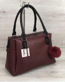 Женская сумка Агата бордовая