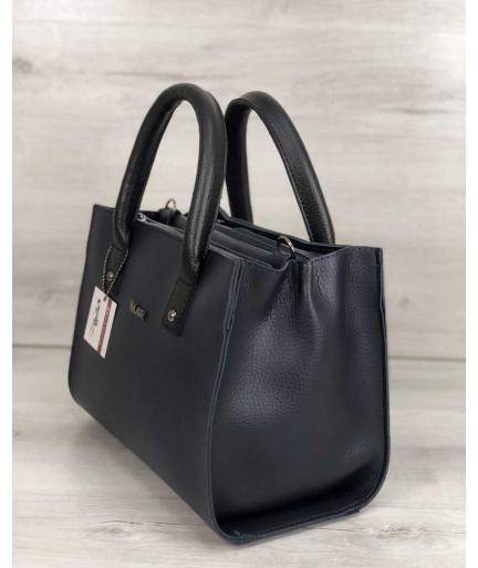 Молодежная женская сумка Ханна синего цвета