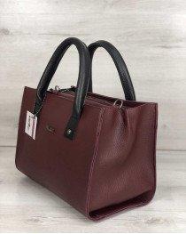 Молодежная женская сумка Ханна бордового цвета