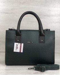Молодежная женская сумка Ханна зеленого цвета