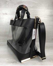 2в1 Молодежная сумка Амира черного цвета