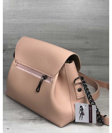 Молодежная сумка Софи пудрового цвета