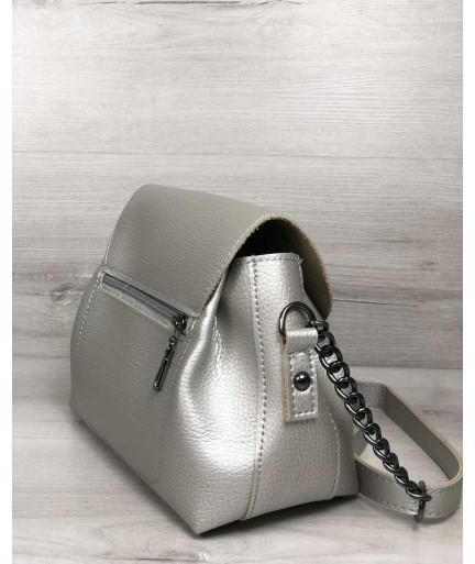 Молодежная сумка Софи серебряного цвета