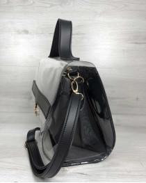 2в1 Молодежная сумка Эрика черного цвета с силиконом (прозрачная)