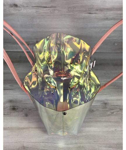 3в1 Молодежная Перламутровая силиконовая сумка и кепка с пудрой