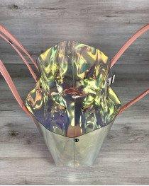 Пляжная сумка «3 в 1» силиконовая и кепка пудра