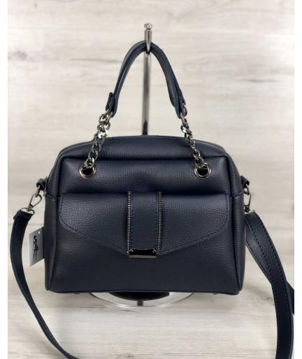 Стильная женская сумка Хлоя синего цвета