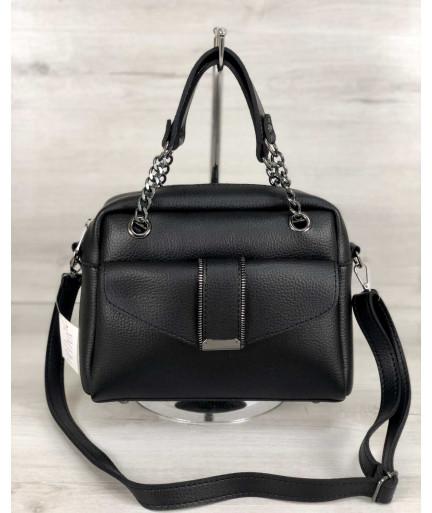 Стильная женская сумка Хлоя черного цвета