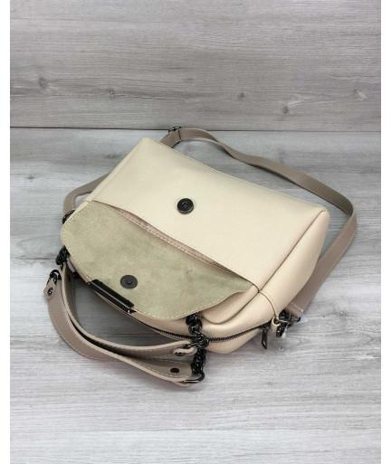 Стильная женская сумка Хлоя бежевого цвета