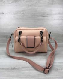 Стильная женская сумка Хлоя цвета пудры