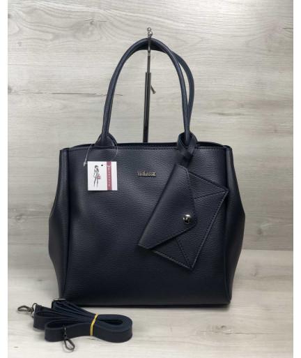 2в1 Молодежная сумка Аланна синего цвета