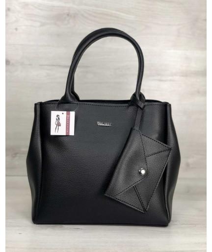 2в1 Молодежная сумка Аланна черного цвета