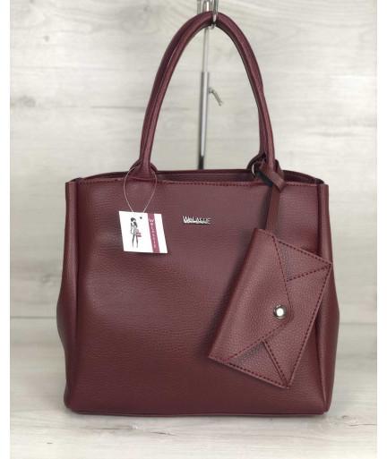 2в1 Молодежная сумка Аланна бордового цвета