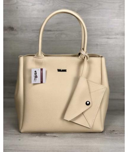 2в1 Молодежная сумка Аланна бежевого цвета