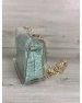 2в1 Молодежная сумка Селена силиконовая с косметичкой мятный крокодил