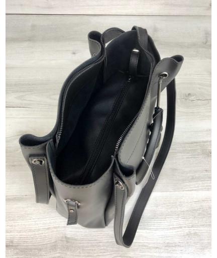 Молодежная сумка Рамона черного цвета