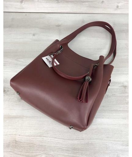 Молодежная сумка Рамона бордового цвета