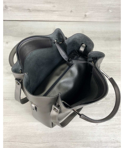 Молодежная сумка Рамона металлик