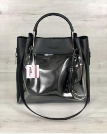 Молодежная сумка Рамона черного цвета c силиконом