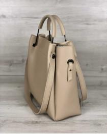 Молодежная сумка Рамона бежевого цвета c силиконом