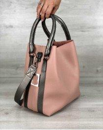 Молодежная женская сумка Леора персикового цвета