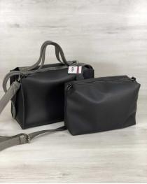 2в1 Стильная женская сумка Малика черного цвета