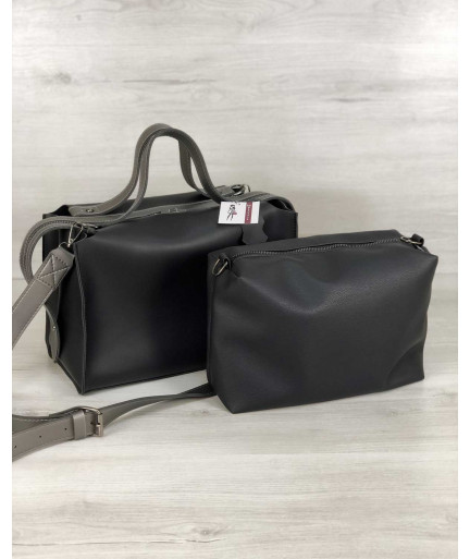 Женская сумка 2в1 «Малика» черного цвета