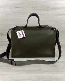 Женская сумка 2 в 1 «Малика» оливкового цвета