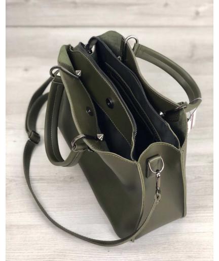 Женская сумка «Илария» оливковая