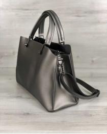 Стильная женская сумка Илария металлик