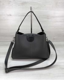 Молодежная женская сумка Илина серого цвета