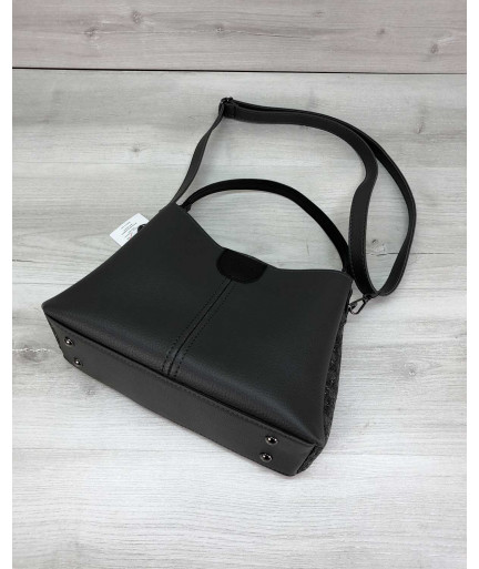 Женская сумка Илина серого цвета