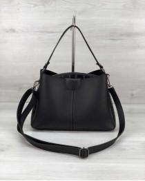 Молодежная женская сумка Илина черного цвета
