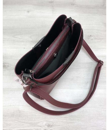 Женская сумка Илина бордового цвета