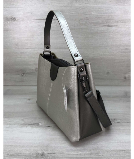 Женская сумка Илина серебро
