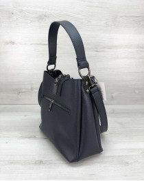 Молодежная женская сумка Сати синего цвета