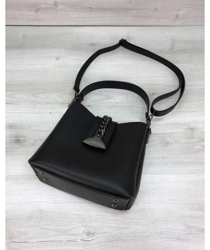 Женская сумка Сати черного цвета