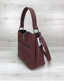 Молодежная женская сумка Сати бордового цвета
