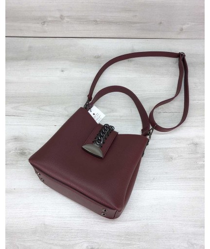 Женская сумка Сати бордового цвета