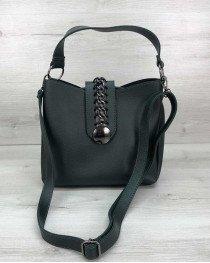 Женская сумка Сати зеленая