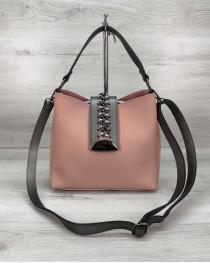 Женская сумка «Сати» пудра