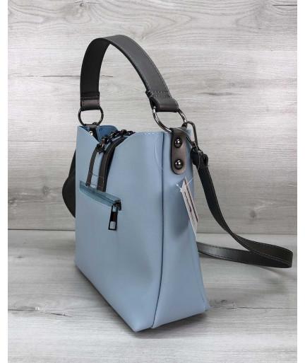 Женская сумка Сати голубого цвета