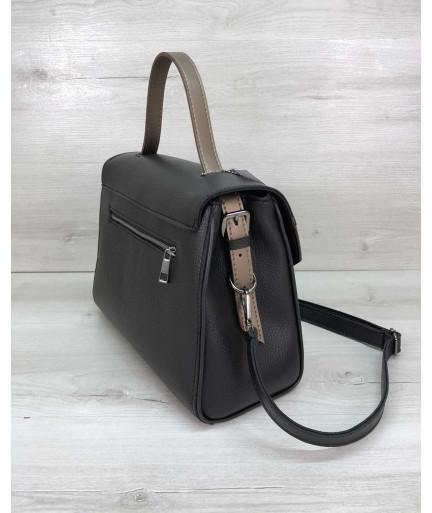 Женская сумка Бетти черная с бронзой