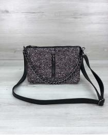 Стильная сумка-клатч  Tina со вставкой блеск