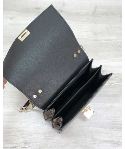 Женская сумка Лусия леопардового цвета