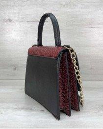 Женская сумка Лусия красного цвета